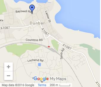 St Annes Dunbar Map