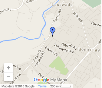 St Leonards Lasswade Map