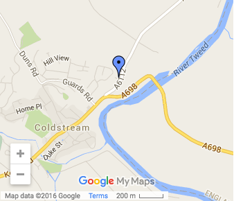 St Marys Coldstream Map