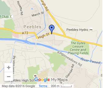 st peters peebles Map