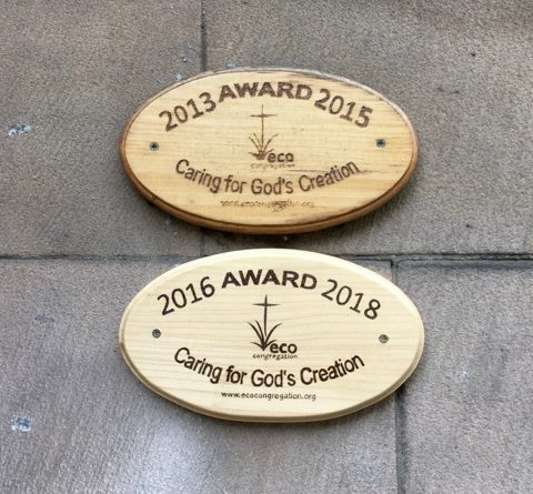 Eco-Congregation Plaques, 2013-2015 and 2016-2018