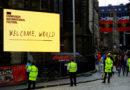 Edinburgh Internation Festival's 'Welcome World' banner