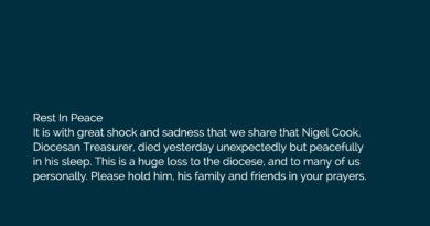 Announcement of the death of Nigel Cook