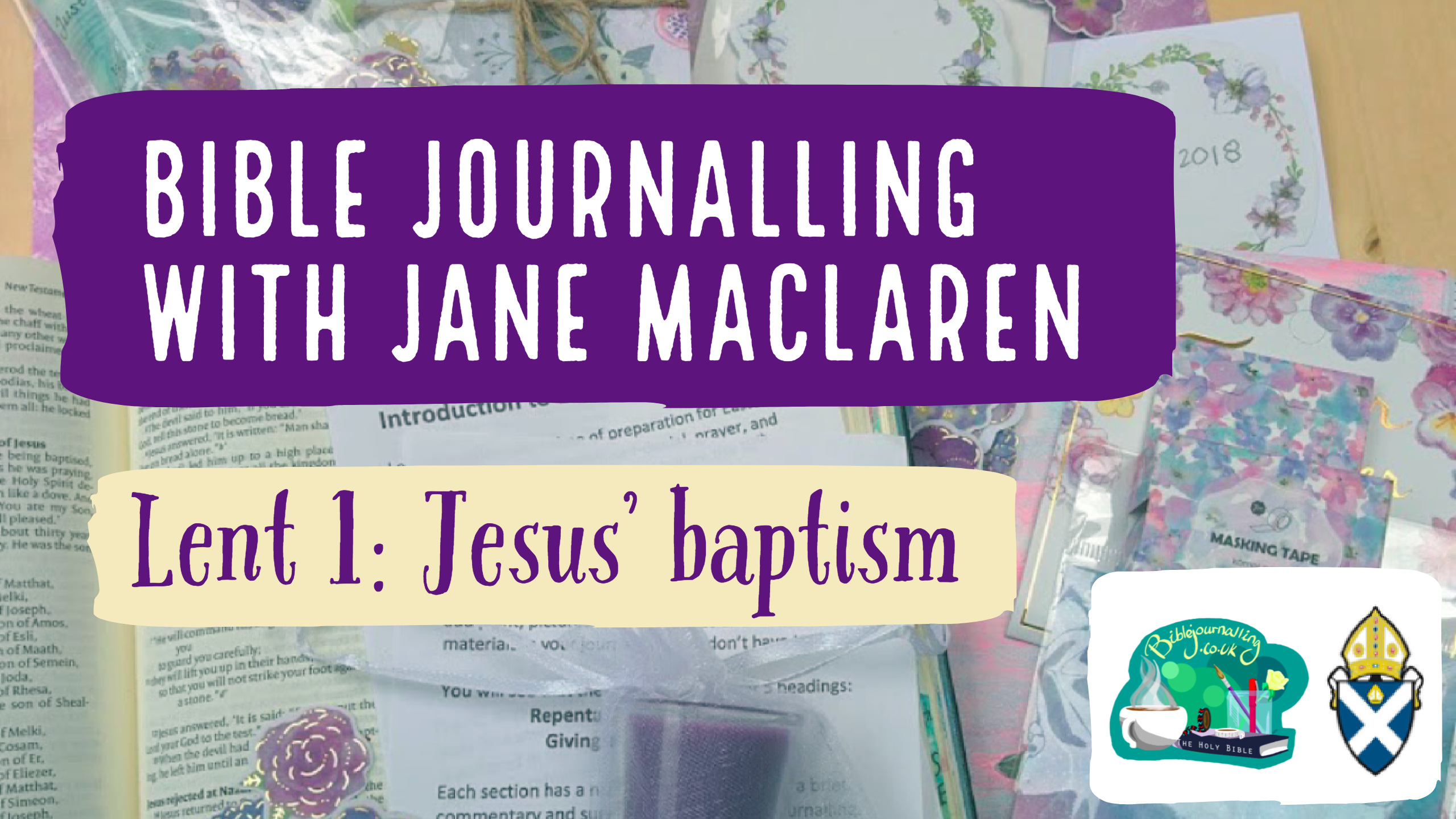 Bible Journalling Lent 1: Jesus Baptism