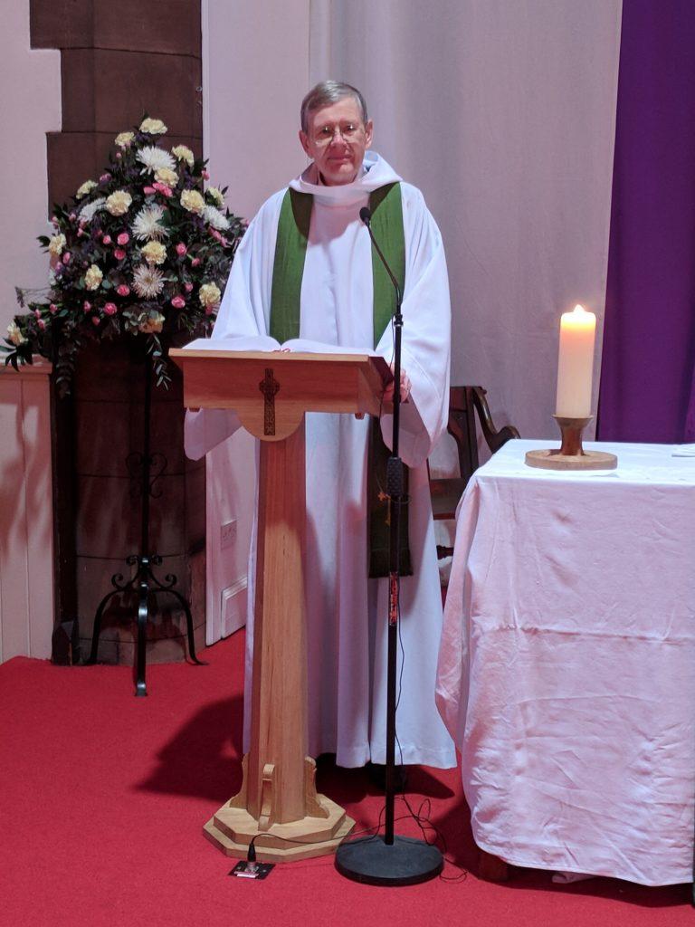 David Warnes in church